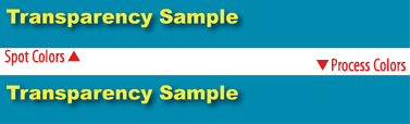 Transparency sample as it appears on-screen